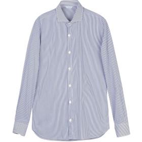 《セール開催中》DICKSON メンズ シャツ ダークブルー 39 コットン 100%