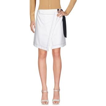 《セール開催中》ERIKA CAVALLINI レディース ミニスカート ホワイト 42 93% コットン 7% ポリウレタン