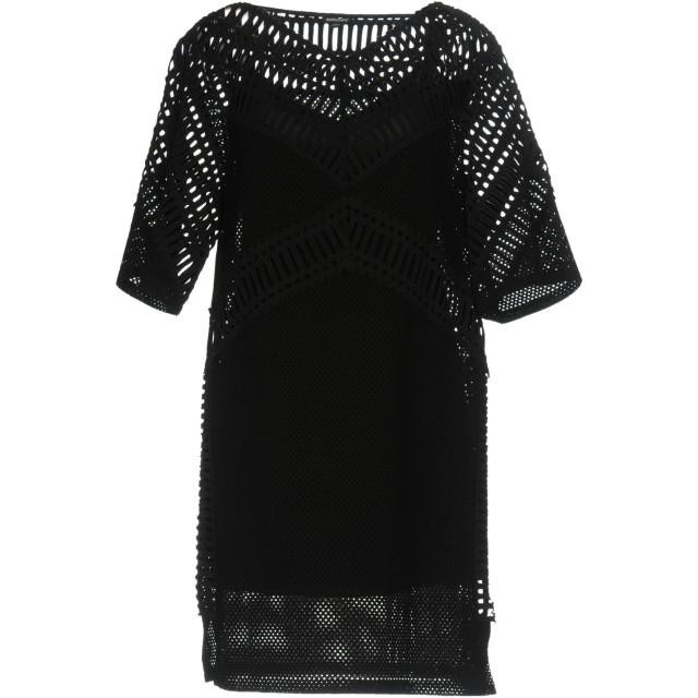 《期間限定セール開催中!》DKNY レディース ミニワンピース&ドレス ブラック XS コットン 100%