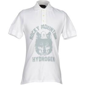 《期間限定セール開催中!》HYDROGEN メンズ ポロシャツ ホワイト XS 100% コットン
