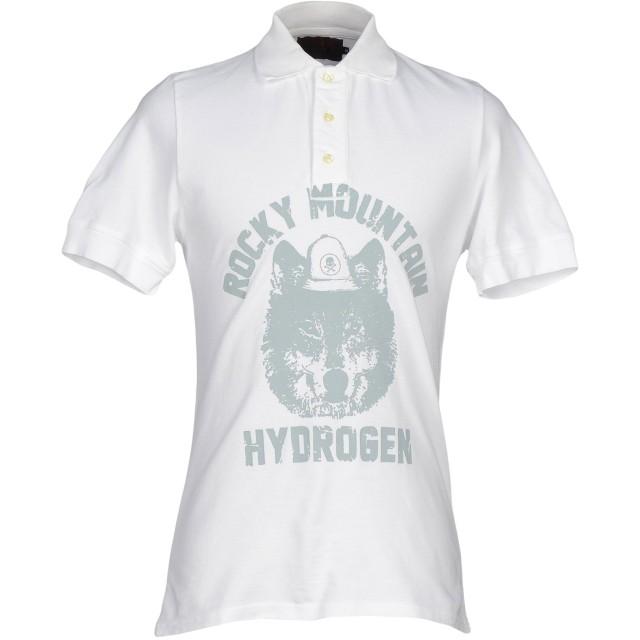 《セール開催中》HYDROGEN メンズ ポロシャツ ホワイト XS 100% コットン
