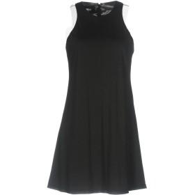 《期間限定セール開催中!》YANG LI レディース ミニワンピース&ドレス ブラック 40 コットン 60% / ナイロン 30% / ポリウレタン 10%