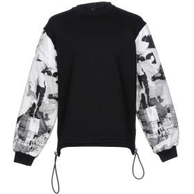 《期間限定 セール開催中》VERSUS VERSACE メンズ スウェットシャツ ブラック XS 100% コットン ナイロン