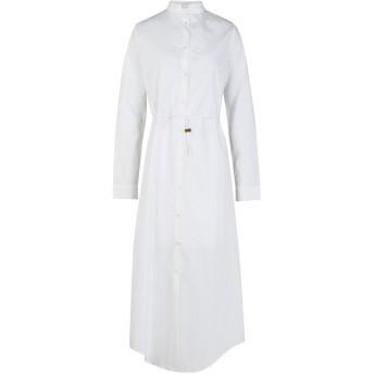 《セール開催中》MTF MARIA TURRI レディース 7分丈ワンピース・ドレス ホワイト 40 コットン 100%