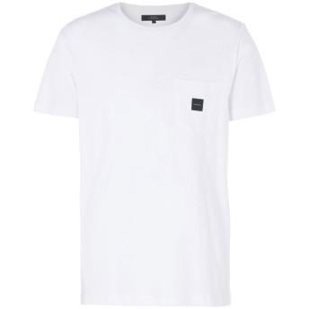 《セール開催中》MAKIA メンズ T シャツ ホワイト S コットン 100% SQUARE POCKET T-SHIRT