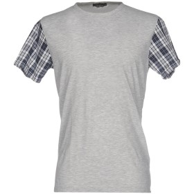 《期間限定 セール開催中》DANIELE ALESSANDRINI HOMME メンズ T シャツ グレー M 100% コットン ポリウレタン