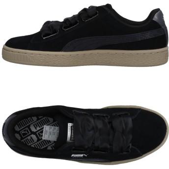 《セール開催中》PUMA レディース スニーカー&テニスシューズ(ローカット) ブラック 3.5 革 / 紡績繊維