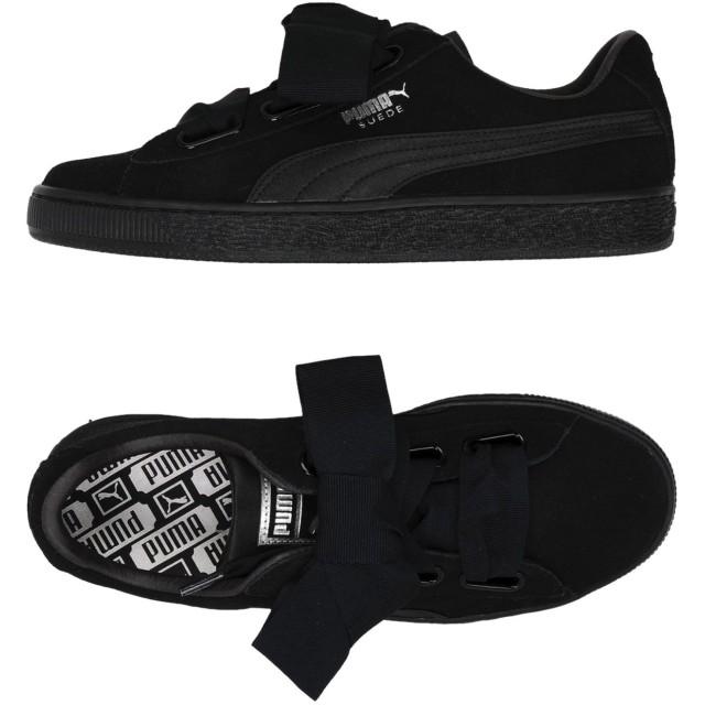 《セール開催中》PUMA レディース スニーカー&テニスシューズ(ローカット) ブラック 3.5 革 / 紡績繊維 Suede Heart EP Wn's