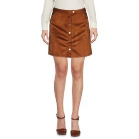 《送料無料》GRACE & MILA レディース ミニスカート ブラウン S ポリエステル 100%
