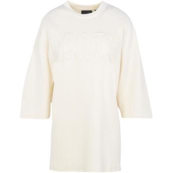 《セール開催中》FENTY PUMA by RIHANNA レディース T シャツ アイボリー 8 コットン 91% / ナイロン 9% OVERSIZED CREW NECK T-SHIRT