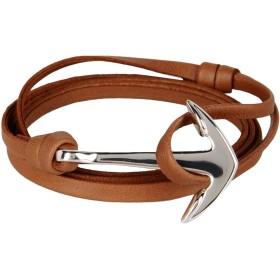 《期間限定 セール開催中》MIANSAI メンズ ブレスレット タン 真鍮/ブラス / 牛革(カーフ) ANCHOR SILVER ON MOJAVE LEATHER