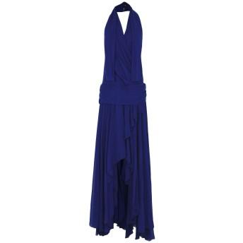 《9/20まで! 限定セール開催中》MANGANO レディース ロングワンピース&ドレス ブルー 42 100% ポリエステル