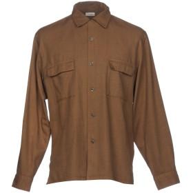 《セール開催中》CAMOSHITA by UNITED ARROWS メンズ シャツ ブラウン 41 コットン 60% / テンセル 40%