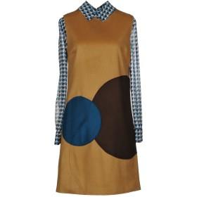 《期間限定セール開催中!》ALESSANDRO DELL'ACQUA レディース ミニワンピース&ドレス キャメル 38 ウール 65% / ナイロン 20% / カシミヤ 10% / 指定外繊維 5%