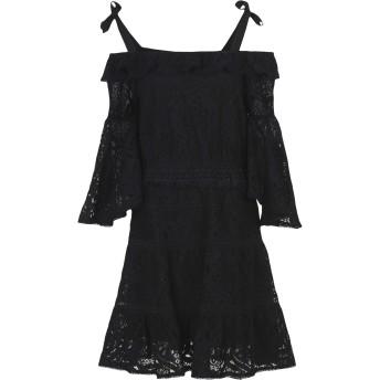 《9/20まで! 限定セール開催中》FOXIEDOX レディース ミニワンピース&ドレス ブラック S コットン 70% / ナイロン 30% BERRY FLARED SLEEVE DRESS