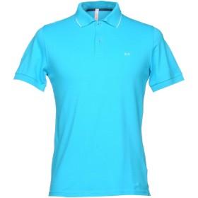 《セール開催中》SUN 68 メンズ ポロシャツ ターコイズブルー S コットン 95% / ポリウレタン 5%