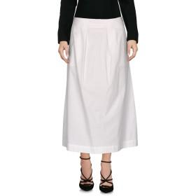 《9/20まで! 限定セール開催中》MALPARMI レディース 7分丈スカート ホワイト 40 97% コットン 3% ポリウレタン