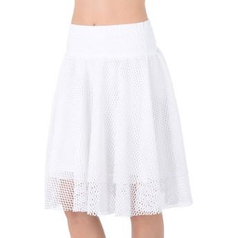 《セール開催中》PUMA レディース ひざ丈スカート ホワイト 8 ポリエステル 100% En Pointe Skirt