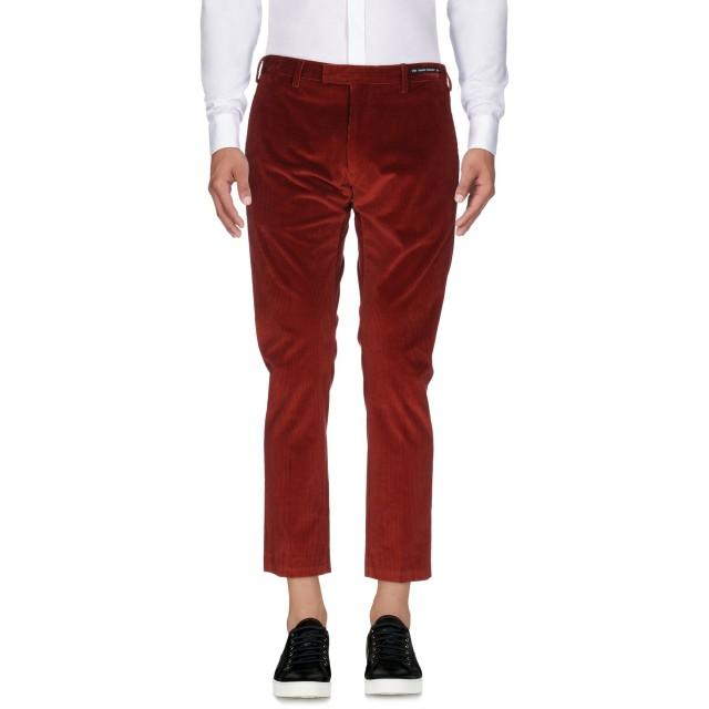 《9/20まで! 限定セール開催中》PT01 GHOST PROJECT メンズ パンツ 赤茶色 50 コットン 98% / ポリウレタン 2%