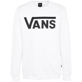 《期間限定セール中》VANS メンズ スウェットシャツ ホワイト XL コットン 100% CLASSIC CREW