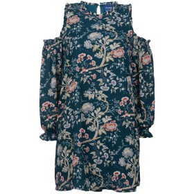 《送料無料》TANTRA レディース ミニワンピース&ドレス ダークグリーン M ポリエステル 100%