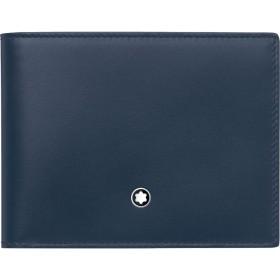 《期間限定セール開催中!》MONTBLANC メンズ 財布 ダークブルー 牛革 100% Wallet 6cc