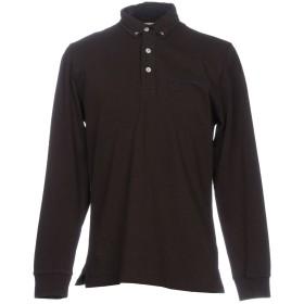 《期間限定 セール開催中》GALVANNI メンズ ポロシャツ ダークブラウン S 100% コットン