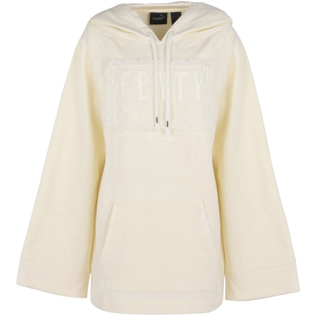 《期間限定セール開催中!》FENTY PUMA by RIHANNA レディース スウェットシャツ アイボリー 8 78% コットン 17% ポリエステル 5% ポリウレタン FLEECE OFF SHOULDER HOODIE