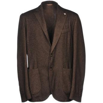 《期間限定セール開催中!》L.B.M. 1911 メンズ テーラードジャケット ココア 52 コットン 45% / ウール 40% / ナイロン 15%