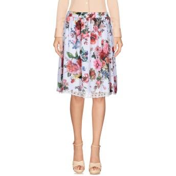 《9/20まで! 限定セール開催中》FRACOMINA レディース ひざ丈スカート ホワイト XS ポリエステル 100%