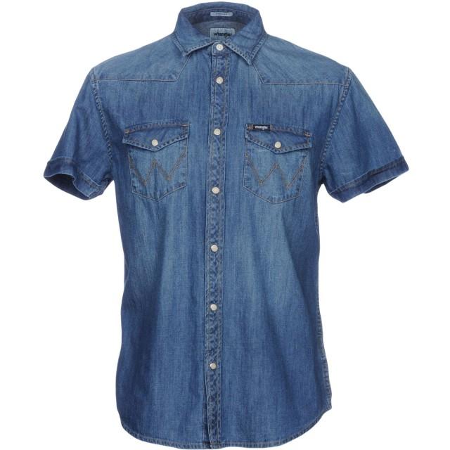 《期間限定 セール開催中》WRANGLER メンズ デニムシャツ ブルー S コットン 100%