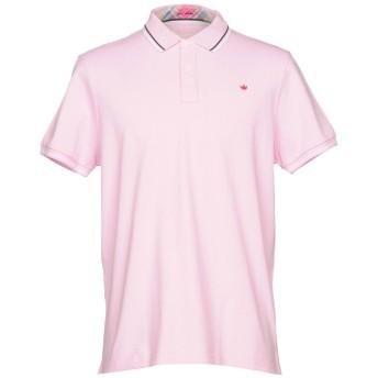 《期間限定セール開催中!》ELVSTRM メンズ ポロシャツ ピンク XXL 100% コットン