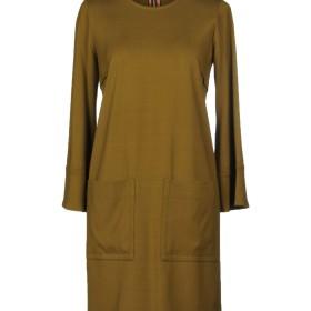 《送料無料》L' AUTRE CHOSE レディース ミニワンピース&ドレス ミリタリーグリーン 40 レーヨン 95% / ポリウレタン 5%
