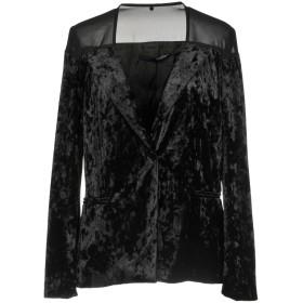 《期間限定セール開催中!》ANNARITA N レディース テーラードジャケット ブラック 40 ポリエステル 90% / ポリウレタン 10%