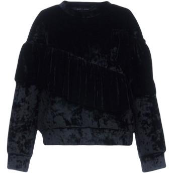 《9/20まで! 限定セール開催中》VANESSA SCOTT レディース スウェットシャツ ブラック M ポリエステル 94% / ポリウレタン 6%
