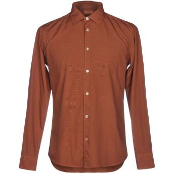 《期間限定セール開催中!》ALTEA メンズ シャツ 赤茶色 S コットン 100%