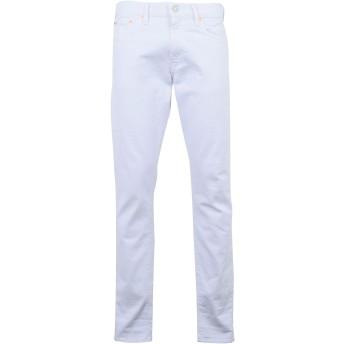 《9/20まで! 限定セール開催中》POLO RALPH LAUREN メンズ ジーンズ ホワイト 30W-34L コットン 98% / ポリウレタン 2% Sullivan Slim Fit Denim