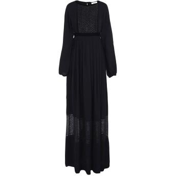 《セール開催中》BLUGIRL BLUMARINE レディース ロングワンピース&ドレス ブラック 40 100% レーヨン ポリエステル