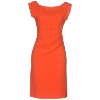 《セール開催中》DIANE VON FURSTENBERG レディース ミニワンピース&ドレス オレンジ 10 ポリエステル 63% / レーヨン 33% / ポリウレタン 4%