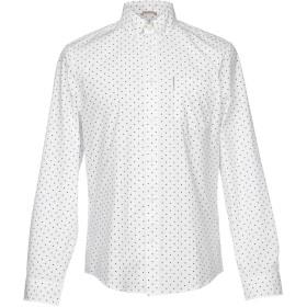 《セール開催中》BEN SHERMAN メンズ シャツ ホワイト L コットン 100%