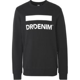 《期間限定セール開催中!》DR. DENIM JEANSMAKERS メンズ スウェットシャツ ブラック S 有機コットン 57% / コットン 43%