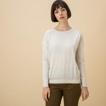 AIGLE レディース レディース 吸水速乾 ロングスリーブ Tシャツ ZTF025J ECRU (102) Tシャツ