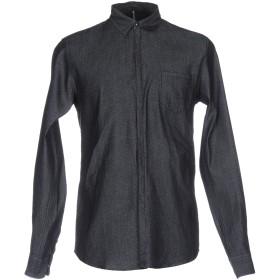 《期間限定セール開催中!》INDIVIDUAL メンズ デニムシャツ ブルー S コットン 100%