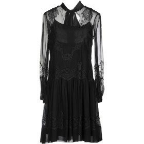 《セール開催中》ALBERTA FERRETTI レディース ミニワンピース&ドレス ブラック 40 100% シルク