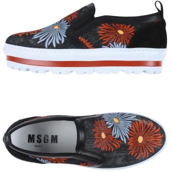 《9/20まで! 限定セール開催中》MSGM レディース スニーカー&テニスシューズ(ローカット) ブラック 35 紡績繊維 革