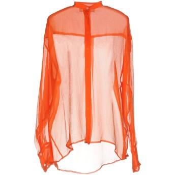 《期間限定セール開催中!》MSGM レディース シャツ オレンジ 40 シルク 100%