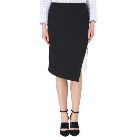 《セール開催中》DKNY レディース ひざ丈スカート ブラック 2 ポリエステル 94% / ポリウレタン 6% MIDI COLORBLOCK SKIRT W/ SIDE
