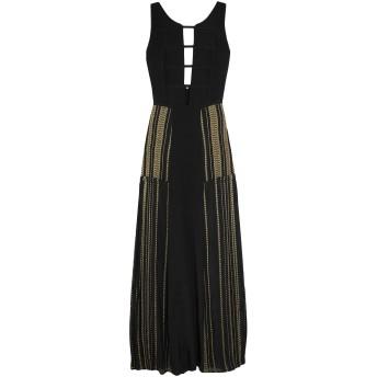《セール開催中》ZEUS + DIONE レディース ロングワンピース&ドレス ブラック 38 シルク 100% / メタリック繊維