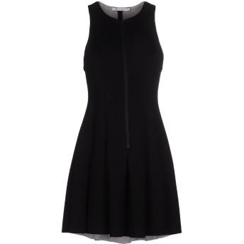 《セール開催中》ALEXANDERWANG.T レディース ミニワンピース&ドレス ブラック L レーヨン 100% / ポリウレタン
