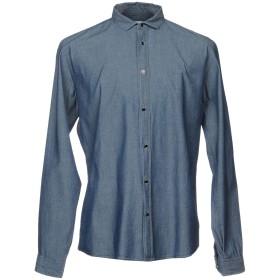 《期間限定 セール開催中》ALLIEVI メンズ デニムシャツ ブルー XXL コットン 100%